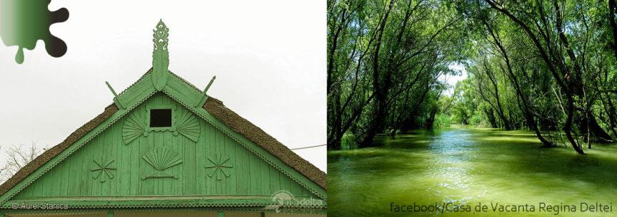 Amenajare exterioara_verde alb bej_Delta Dunarii