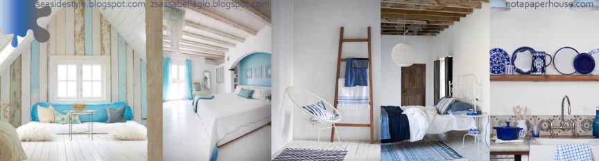 Amenajare living dormitor_alb albastru crem_Delta Dunarii
