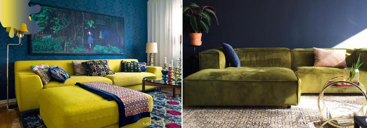 Amenajare-living_verde-chartreuse_albastru-marin_culori-curiozitati