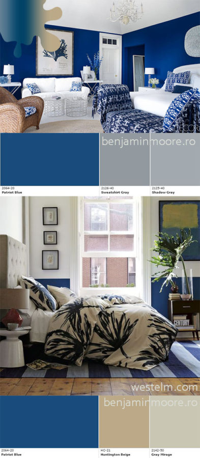 amanejare dormitor_bleumarin_benjamin moore