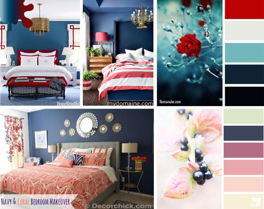 amanejare dormitor_bleumarin_rosu corai