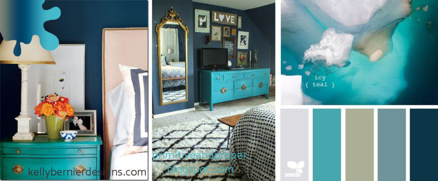 amanejare dormitor_bleumarin_turquoise