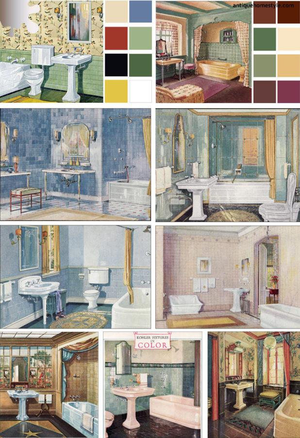 amenajare baie_vintage_schite inspiratie culori