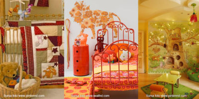 amenajare camera copii__portocaliu_verde_ galben