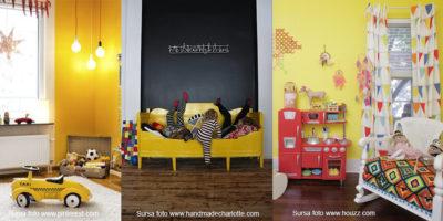 amenajare camera copii_galben pai_galben miere