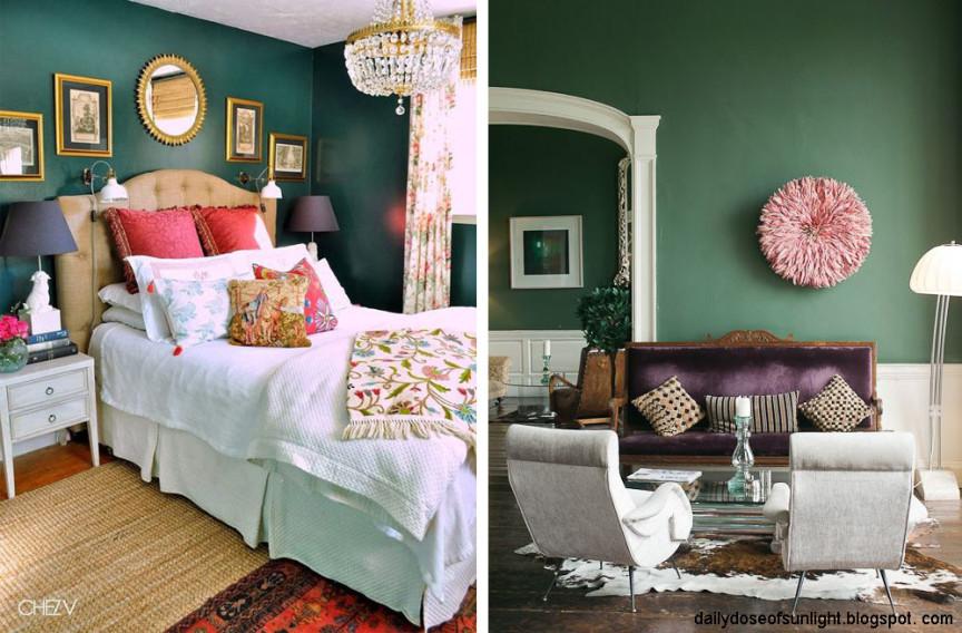 amenajare dormitor living_verde inchis