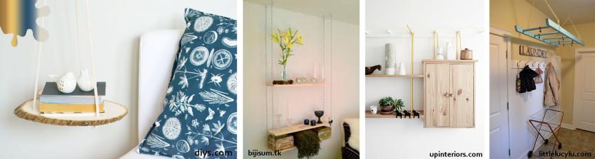 amenajare dormitor_galben albastru_mobilier suspendat