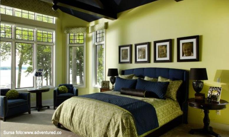 amenajare dormitor_verde olive_perete