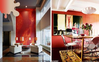 amenajare living dining_corai_combinatii culori