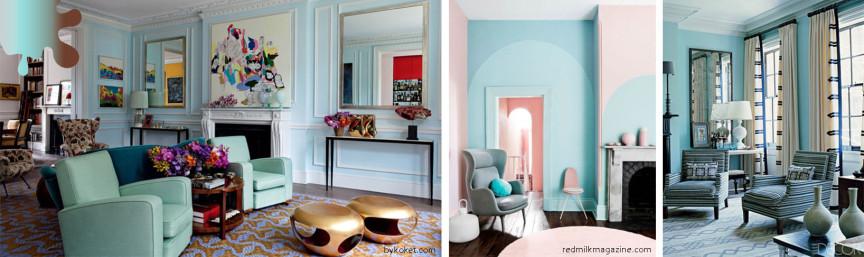 amenajare living_turquoise_combinatii culori