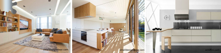 amenajare minimalism_mobilier_alb maro lemn