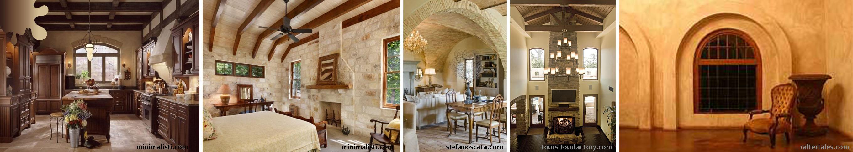 amenajare toscan_bej crem maro_perete semineu ferestre
