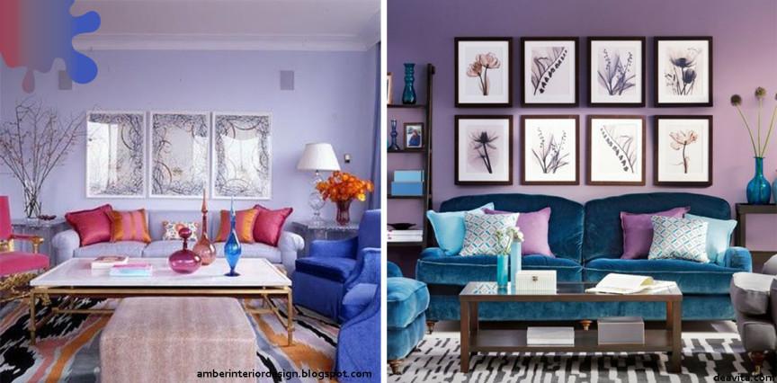 amenajari living_mov lavanda_fuchsia albastru