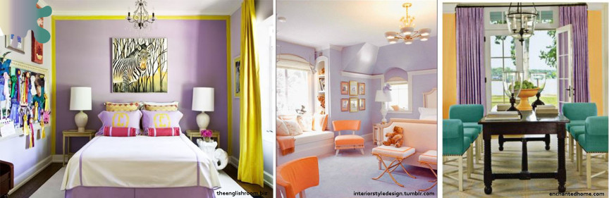 amenajari living_mov lavanda_galben portocaliu verde