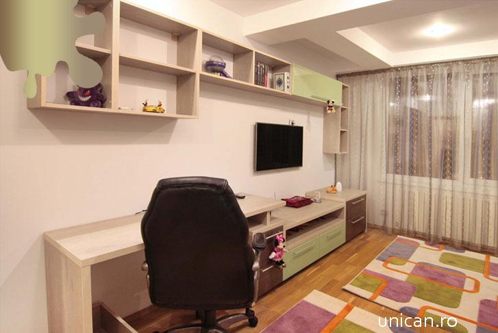 camera copil_maro verde_mobilier