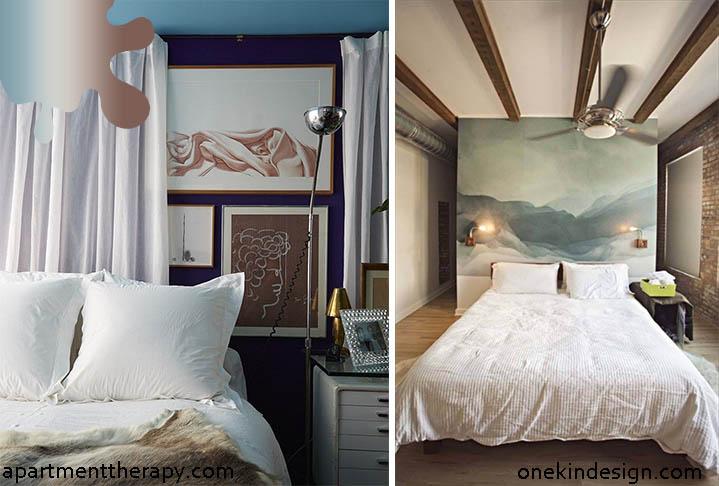 dormitor_tablie pat_albastru gri