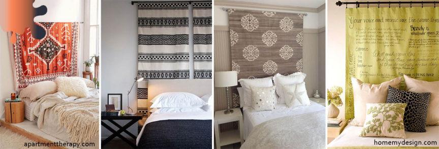 dormitor_tablie pat_rosu alb negru
