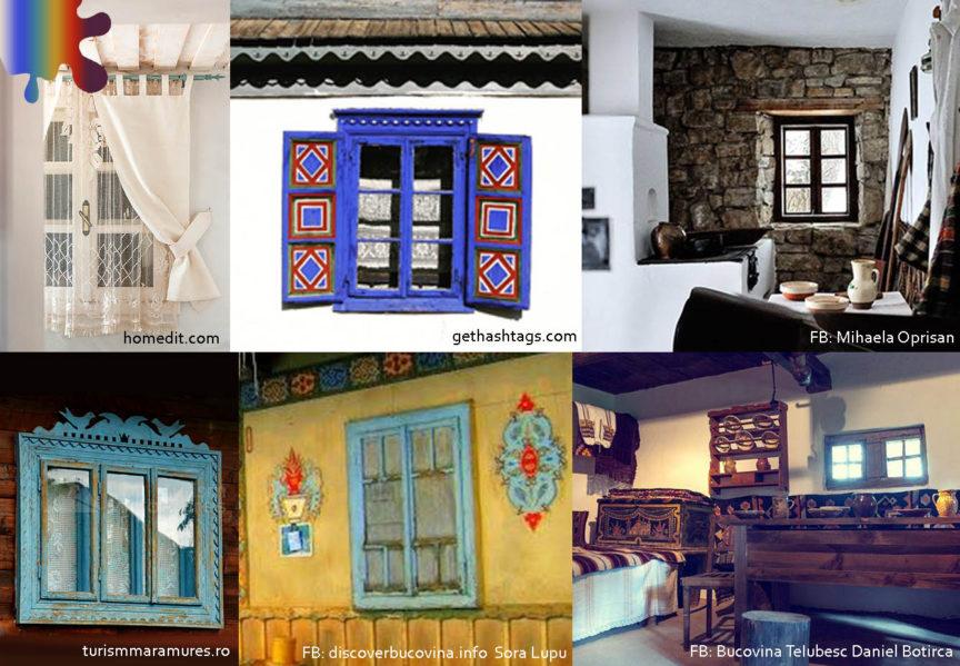 romanesc actual_fereastra colorata_albastru rosu galben maro alb