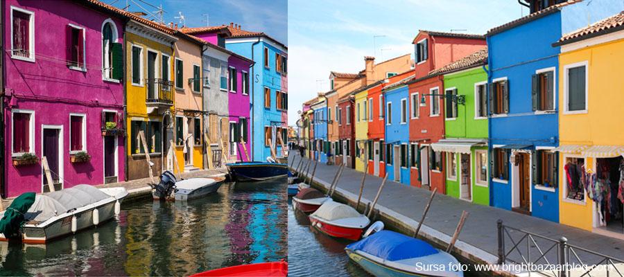 venetia- insula burano-locuinte colorate