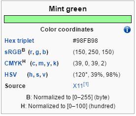 verde menta